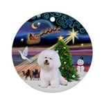 Xmas Magic Bichon Ornament (Round)
