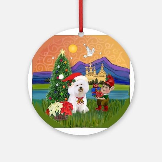 Bichon Frise Fantasy Christmas Keepsake (Round)