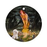 Bichon & Fairies Keepsake (Round)