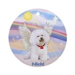 Bichon Frise Nicki Ornament (Round)