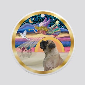 Xmas Star/Bull Mastiff Ornament (Round)