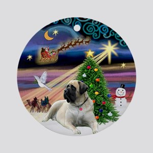 Bull Mastiff Xmas Magic Ornament (Round)