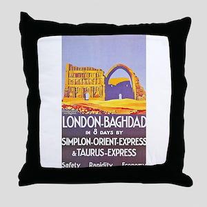Iraq Travel Poster 1 Throw Pillow