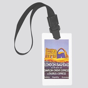 Iraq Travel Poster 1 Large Luggage Tag