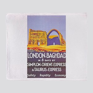 Iraq Travel Poster 1 Throw Blanket