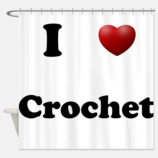 Crochet Shower Curtain