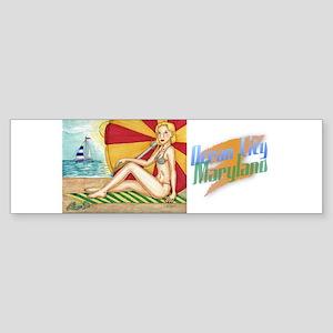 Beach Umbrella Sticker (Bumper)