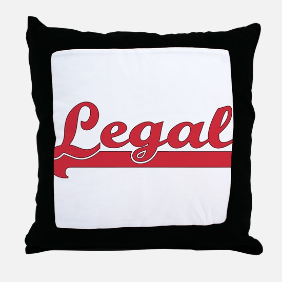 Red Legal Throw Pillow