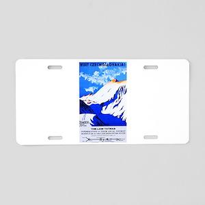 Czechoslovakia Travel Poster 2 Aluminum License Pl