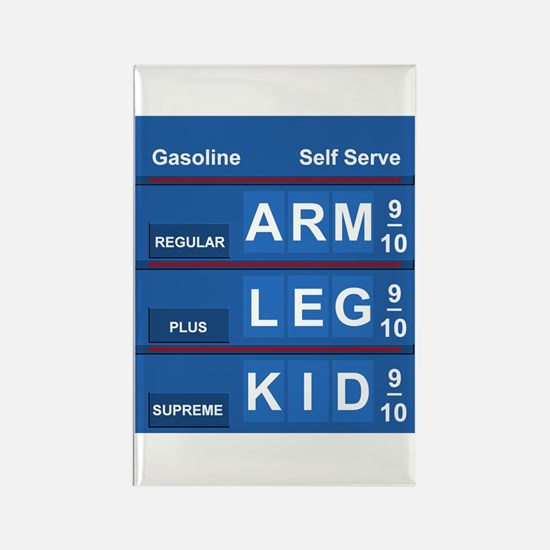GAS PRICES Rectangle Magnet