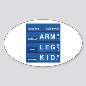 GAS PRICES Oval Sticker