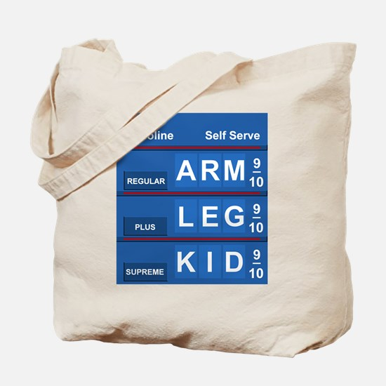 GAS PRICES Tote Bag