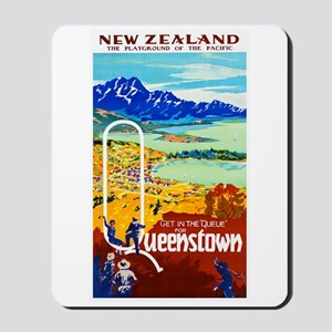 New Zealand Travel Poster 6 Mousepad