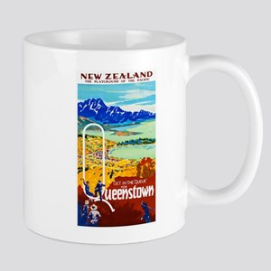 New Zealand Travel Poster 6 Mug