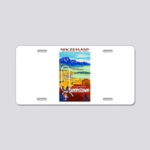 New Zealand Travel Poster 6 Aluminum License Plate