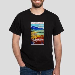 New Zealand Travel Poster 6 Dark T-Shirt