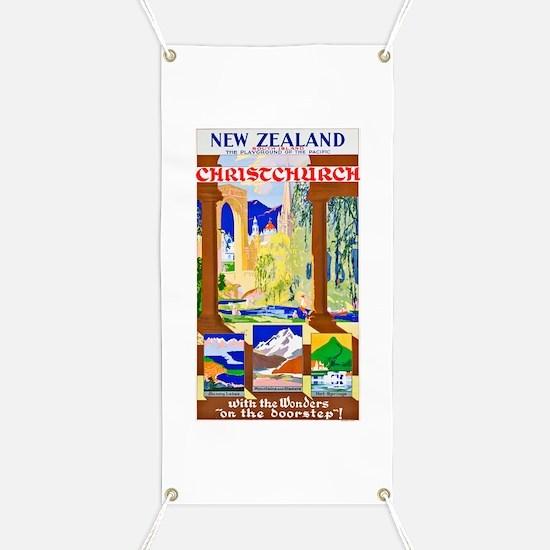 New Zealand Travel Poster 1 Banner