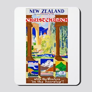 New Zealand Travel Poster 1 Mousepad