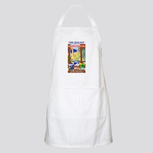 New Zealand Travel Poster 1 Apron