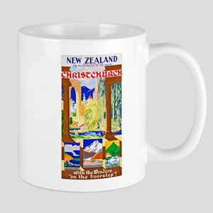 New Zealand Travel Poster 1 Mug