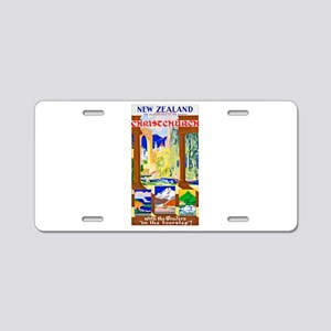 New Zealand Travel Poster 1 Aluminum License Plate
