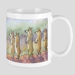 Corgi dogs having a meerkat moment Mug