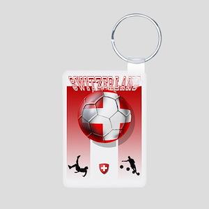 Switzerland Soccer Aluminum Photo Keychain