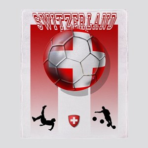 Switzerland Soccer Throw Blanket