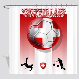 Switzerland Soccer Shower Curtain