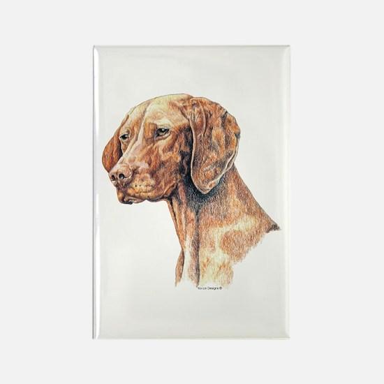 Vizsla Dog Portrait Rectangle Magnet