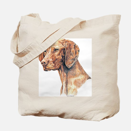 Vizsla Dog Portrait Tote Bag