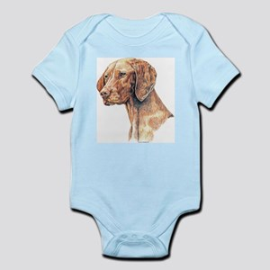 Vizsla Dog Portrait Infant Creeper