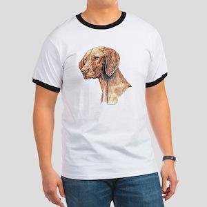 Vizsla Dog Portrait Ringer T