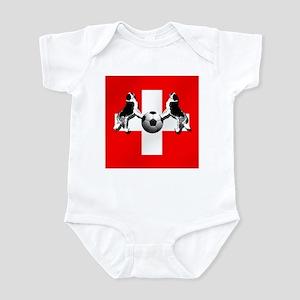 Swiss Football Flag Infant Bodysuit