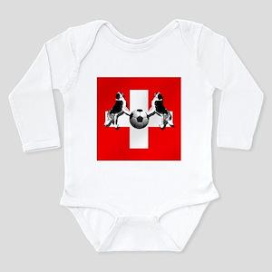 Swiss Football Flag Long Sleeve Infant Bodysuit