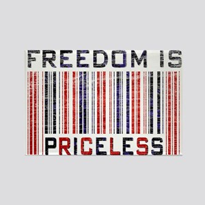 Freedom is Priceless America Rectangle Magnet