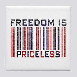 Freedom is Priceless America Tile Coaster