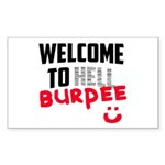 Welcome to Burpee Sticker (Rectangle)