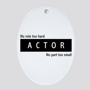 Actor Ornament (Oval)
