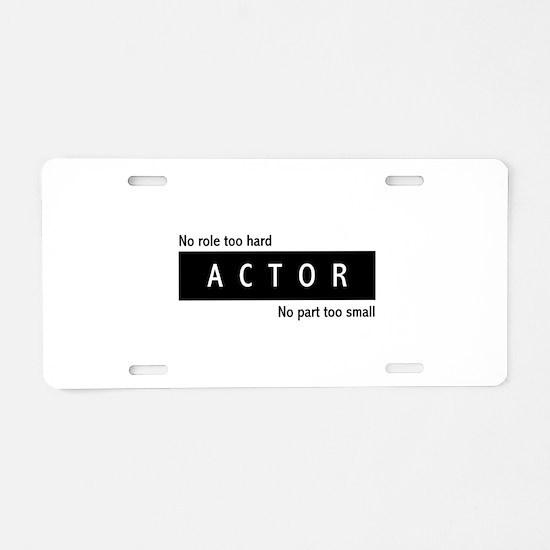 Actor Aluminum License Plate
