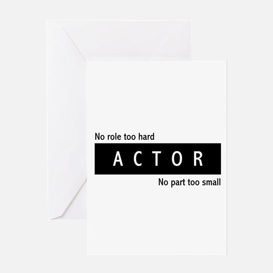 Actor Greeting Card