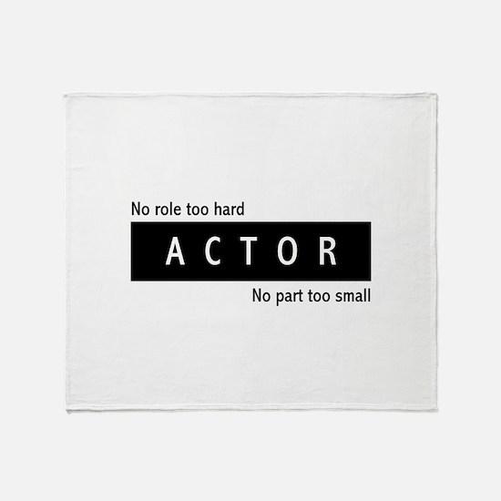 Actor Throw Blanket