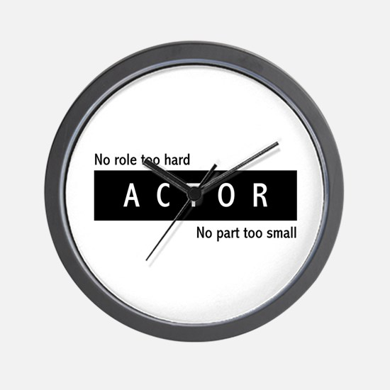 Actor Wall Clock