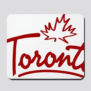 Toronto Leaf Script Mousepad