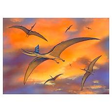 Pterosaur flying reptiles, artwork Poster