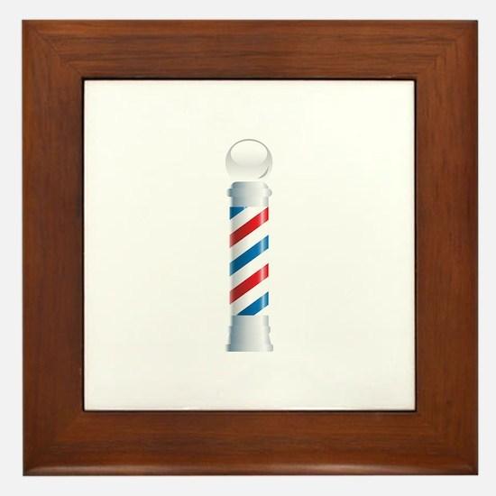Barber's Pole Barber Shop Framed Tile