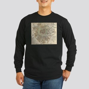 Vintage Map of Vienna Austria Long Sleeve T-Shirt