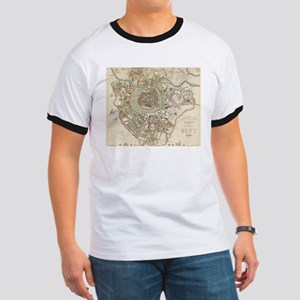 Vintage Map of Vienna Austria (1833) T-Shirt