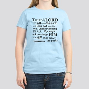 Proverbs 3:5-6 KJV Dark Gray Print Women's Light T