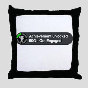 Got Engaged (Achievement) Throw Pillow